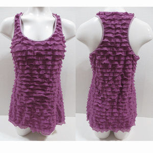 Studio Y top Large ruffle sleeveless Maurices